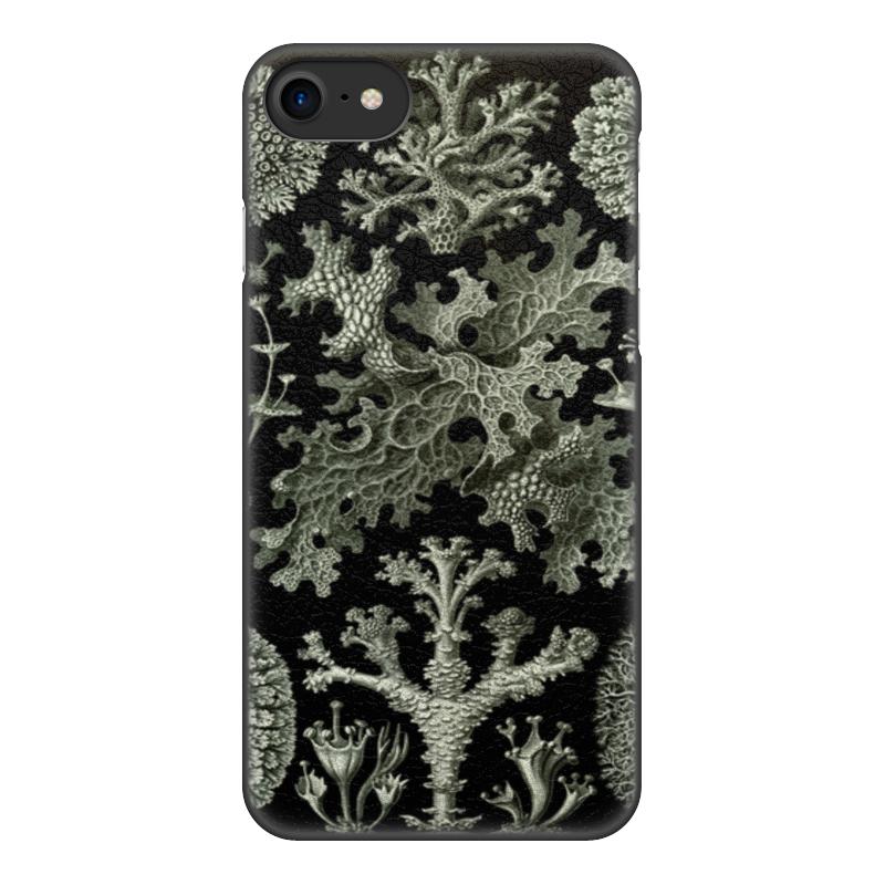 Чехол для iPhone 8, объёмная печать Printio Лишайники (lichenes, ernst haeckel) чехол для samsung galaxy s7 edge силиконовый printio лишайники lichenes ernst haeckel