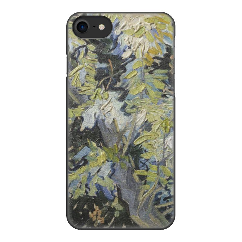 Чехол для iPhone 8, объёмная печать Printio Ветви цветущей акации (винсент ван гог) цена и фото