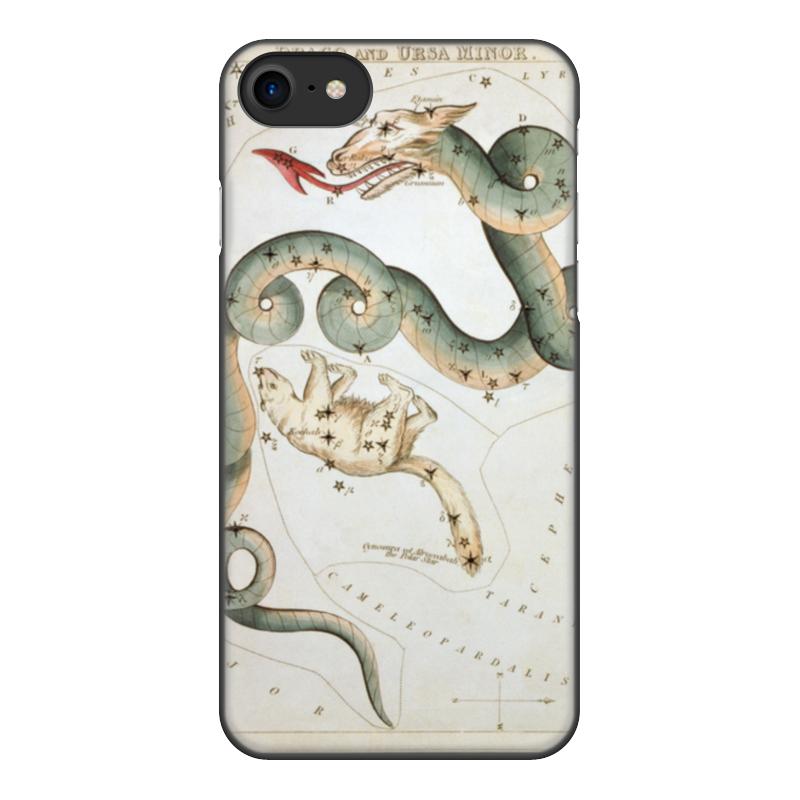 Чехол для iPhone 8, объёмная печать Printio Дракон и малая медведица (зеркало урании) кружка пивная printio созвездие гончие псы зеркало урании