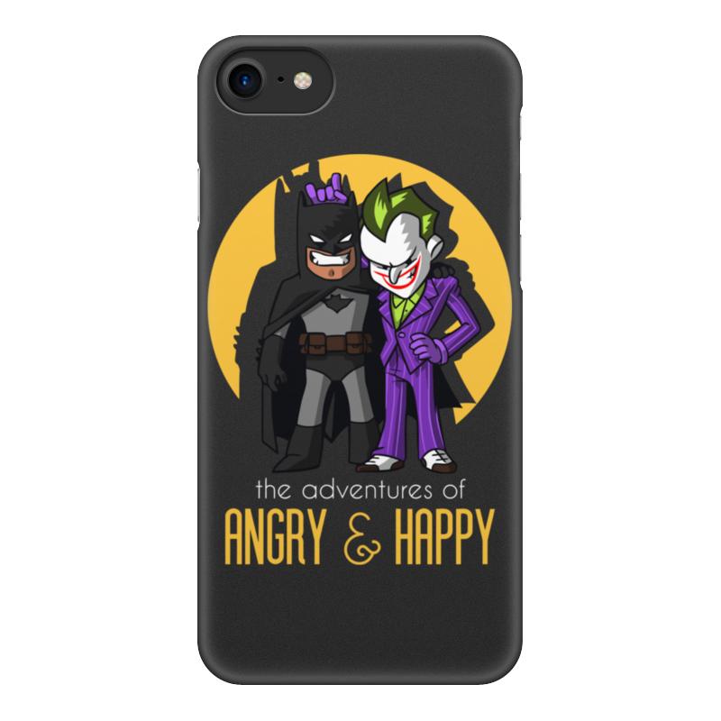 Чехол для iPhone 8, объёмная печать Printio Бэтмен и джокер цена