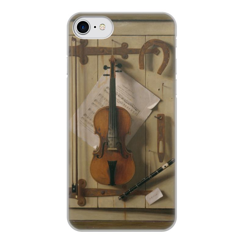 Чехол для iPhone 8, объёмная печать Printio Натюрморт со скрипкой (уильям харнетт) пазл castor land 68 47см натюрморт со скрипкой и живописью 1000эл
