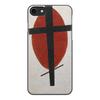 """Чехол для iPhone 8, объёмная печать """"Супрематизм (Черный крест на красном овале)"""" - картина, живопись, малевич"""