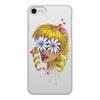 """Чехол для iPhone 8, объёмная печать """"Без ума от цветов"""" - любовь, девушка, цветы, сердца, блондинка"""