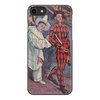 """Чехол для iPhone 8, объёмная печать """"Пьеро и Арлекин (Поль Сезанн)"""" - картина, живопись, цирк, сезанн"""