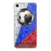 """Чехол для iPhone 8, объёмная печать """"World Soccer 2018"""" - футбол, россия, путин, мундиаль"""