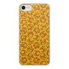 """Чехол для iPhone 8, объёмная печать """"Соты с медом (орнамент)"""" - орнамент, абстракция, геометрия"""