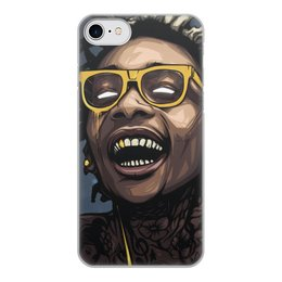 "Чехол для iPhone 8, объёмная печать ""WizKhalifa"" - music, rap, star, wizkhalifa, digitalart"