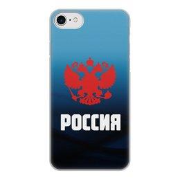 """Чехол для iPhone 8, объёмная печать """"Россия"""" - россия, герб, russia, орел, флаг"""