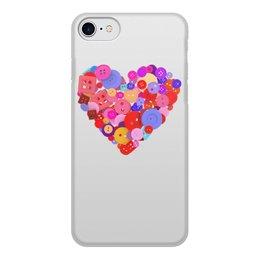 """Чехол для iPhone 8, объёмная печать """"День всех влюбленных"""" - любовь, день святого валентина, валентинка, i love you, день влюбленных"""
