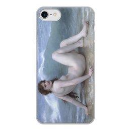"Чехол для iPhone 8, объёмная печать ""Волна (картина Бугро)"" - картина, академизм, живопись, ню, бугро"