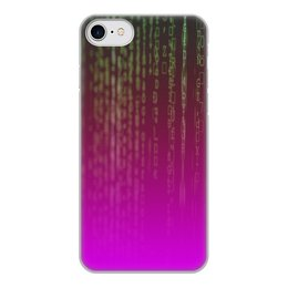 "Чехол для iPhone 8, объёмная печать ""Матрица"" - компьютеры, матрица, код, программа, пароль"