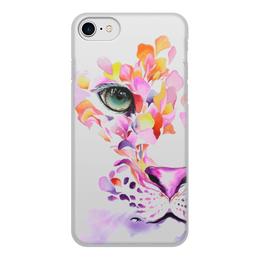 """Чехол для iPhone 8, объёмная печать """"Тигр в акварели"""" - милый, тигр, акварель"""
