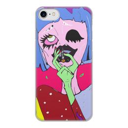 """Чехол для iPhone 8, объёмная печать """"No smoking """" - girl, shop, you, smoke"""