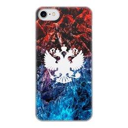 """Чехол для iPhone 8, объёмная печать """"Флаг России"""" - россия, герб, russia, орел, флаг"""