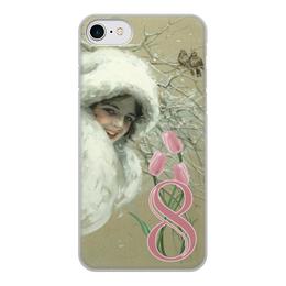 """Чехол для iPhone 8, объёмная печать """"Дизайн 8 Марта"""" - арт, девушка, 8 марта, сестра, harrison fisher"""