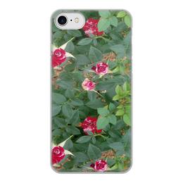 """Чехол для iPhone 8, объёмная печать """"Красные розы"""" - лето, цветы, розы"""