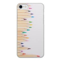 """Чехол для iPhone 8, объёмная печать """"Карандаши"""" - рисунок, осень, творчество, карандаши, цветные карандаши"""