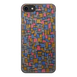 """Чехол для iPhone 8, объёмная печать """"Композиция (Питер Мондриан)"""" - картина, живопись, мондриан"""