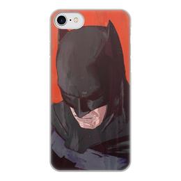 """Чехол для iPhone 8, объёмная печать """"Бэтмен"""" - комиксы, batman, бэтмен, dc comics, batman vs superman"""