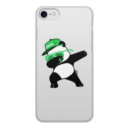 """Чехол для iPhone 8, объёмная печать """"Dab Panda """" - животные, панда, panda, дэб, dab"""