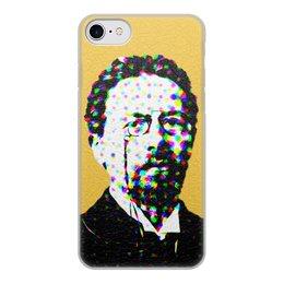 """Чехол для iPhone 8, объёмная печать """"Чехов"""" - арт, черный, писатель, попарт, чехов"""