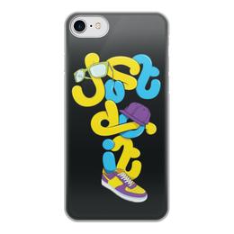 """Чехол для iPhone 8, объёмная печать """"Just do it (просто сделай это)"""" - цитаты, just do it"""