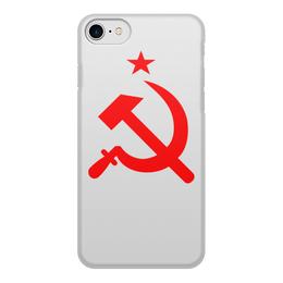 """Чехол для iPhone 8, объёмная печать """"Серп и молот"""" - серп и молот"""