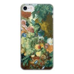 "Чехол для iPhone 8, объёмная печать ""Фрукты и цветы (Ян ван Хёйсум)"" - цветы, картина, живопись, натюрморт, ян ван хёйсум"