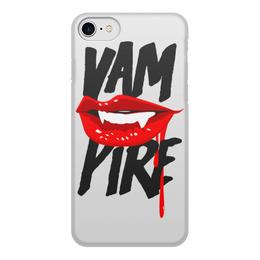 """Чехол для iPhone 8, объёмная печать """"Вампир"""" - губы, кровь, vampire"""