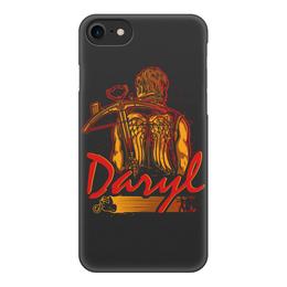 """Чехол для iPhone 8, объёмная печать """"Дэрил (Ходячие мертвецы)"""" - дэрил, ходячие мертвецы, the walking dead"""