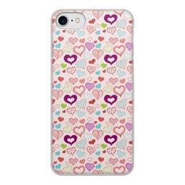 """Чехол для iPhone 8, объёмная печать """"Сердечки"""" - сердце, любовь, день святого валентина"""