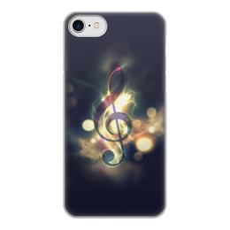 """Чехол для iPhone 8, объёмная печать """"Музыка ночи"""" - музыка, ночь, нота"""