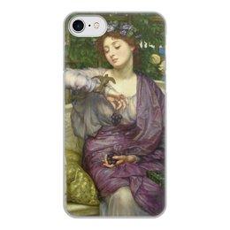 """Чехол для iPhone 8, объёмная печать """"Лесбия и её воробушек (Эдвард Пойнтер)"""" - картина, живопись, мифология, пойнтер"""