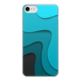 """Чехол для iPhone 8, объёмная печать """"Волнистый"""" - волнистый, стиль, узор, абстракция, абстрактный"""