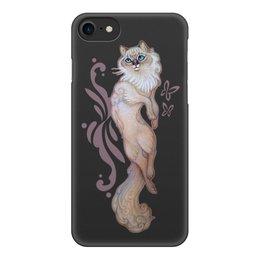 """Чехол для iPhone 8, объёмная печать """"Кошка Рэгдолл"""" - кошка, пушистый, домашние животные, котики, голубые глаза"""