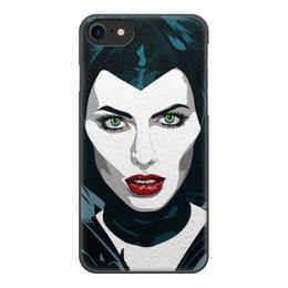 """Чехол для iPhone 8, объёмная печать """"Maleficent (Анджелина Джоли)"""" - кино, сказка, анджелина джоли, малефисента, снежная королева"""