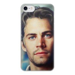 """Чехол для iPhone 8, объёмная печать """"Пол Уокер Paul Walker"""" - форсаж, актер, пол уокер, paul walker, брайн оконнер"""