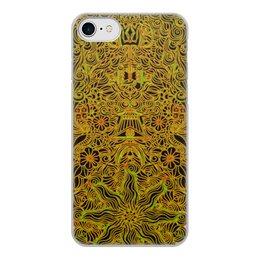 """Чехол для iPhone 8, объёмная печать """"Символы индуизма золотой мехенди"""" - символ, индия, индуизм, индийский, мехенди"""