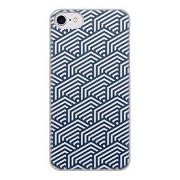 """Чехол для iPhone 8, объёмная печать """"Геометричсекий"""" - рисунок, стиль, узор, геометрический, абстрактный"""