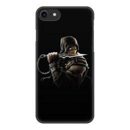 """Чехол для iPhone 8, объёмная печать """"Mortal Kombat (Scorpion)"""" - воин, боец, скорпион, mortal kombat, scorpion"""