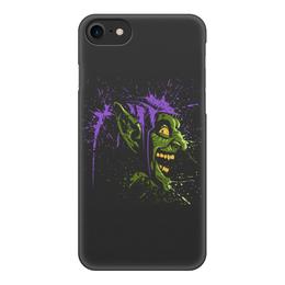 """Чехол для iPhone 8, объёмная печать """"Зелёный Гоблин"""" - человек паук, гоблин"""