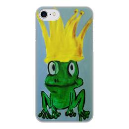 "Чехол для iPhone 8, объёмная печать ""Царевна"" - корона, лягушка, принцесса, царевна"