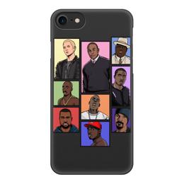 """Чехол для iPhone 8, объёмная печать """"Легенды Хип-Хопа( Рэпа)"""" - rap, legends, хип-хоп, легенды, hip- hop"""