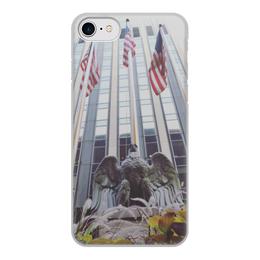 """Чехол для iPhone 8, объёмная печать """"American eagle """" - eagle, flag, americanflag"""