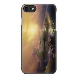"""Чехол для iPhone 8, объёмная печать """"Девятый вал (картина Айвазовского)"""" - море, картина, живопись, айвазовский"""