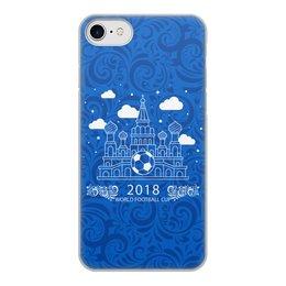 """Чехол для iPhone 8, объёмная печать """"Футбол"""" - футбол, спорт, мяч, россия"""