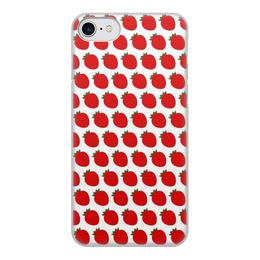 """Чехол для iPhone 8, объёмная печать """"Strawberry"""" - настроение, иллюстрация, рисунок, арт"""