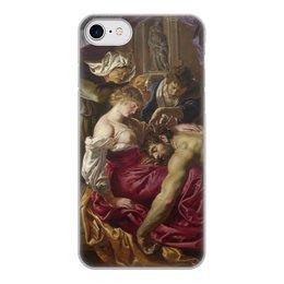 """Чехол для iPhone 8, объёмная печать """"Самсон и Далила (картина Рубенса)"""" - картина, рубенс"""