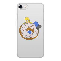 """Чехол для iPhone 8, объёмная печать """"Гомер Симпсон"""" - гомер, гомер симпсон, пончик, homer simpson, donut"""