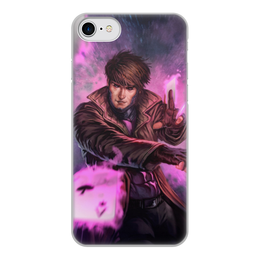 """Чехол для iPhone 8, объёмная печать """"Гамбит"""" - марвел, комиксы, gambit, comics"""